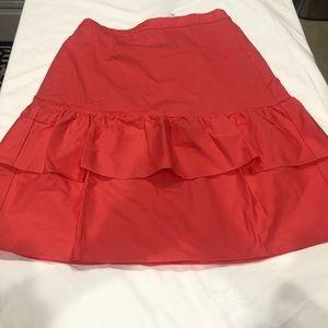 Women's J.Crew Skirt - Burnt Orange Size 6 NWT